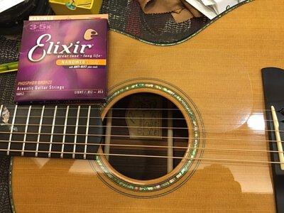 木吉他更換Elixir吉他弦