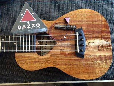 夏威夷Kanile'a Ku'uipo安裝美國Dazzo貼片拾音器