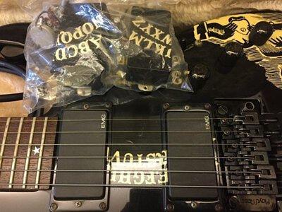 ESP電吉他改裝EMG換回原廠拾音器