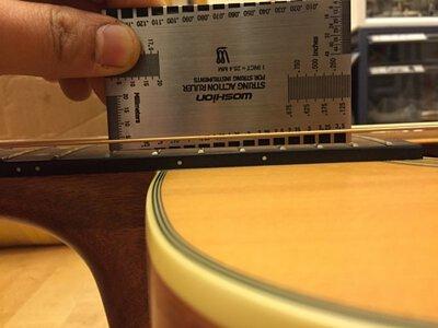吉他弦距過高處理