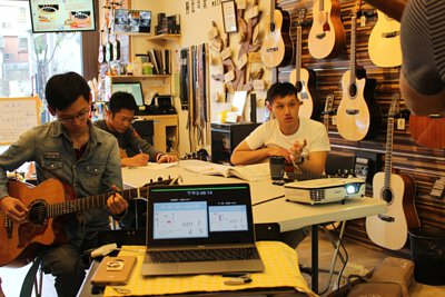 黃彥陸老師的突破基本伴奏的吉他職人講座-上課剪影