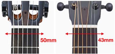 古典吉他與鋼弦吉他的指板寬度