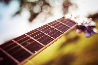 吉他琴頸背景圖