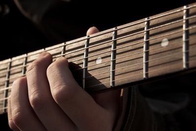 吉他指板背景圖