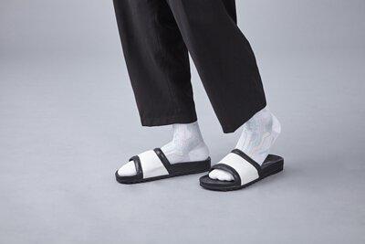 nozzle quiz 是以機能性、街頭感為精神的台灣潮流襪子品牌。以機能襪履做為出發,粉嫩色系與拖鞋營造出輕鬆生活的life style。