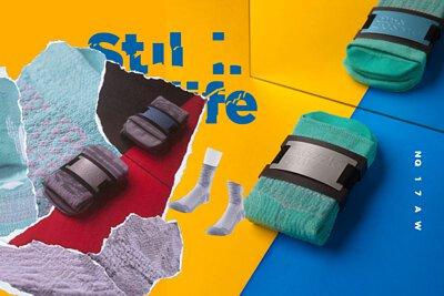 """台灣街頭襪子品牌 nozzle quiz,以機能襪履為出發,利用拼貼手法與色彩衝撞,以""""靜物畫""""為概念,創作出寧靜中帶出街頭動能的LOOK"""