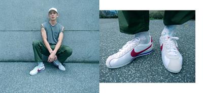 台灣街頭機能襪履品牌 nozzle quiz 與誠品生活松菸店的AXES 合作推出的聯乘企劃,透過潮流型人的襪子搭配示範,展現街頭穿搭的風貌。新世代男模徐子洋,nike阿甘鞋