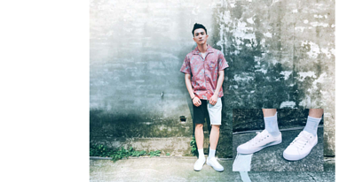 台灣街頭機能襪履品牌 nozzle quiz 與誠品生活松菸店的AXES 合作推出的聯乘企劃,透過潮流型人的襪子搭配示範,展現街頭穿搭的風貌。張瀚元 x 帆布鞋 x 素色襪子