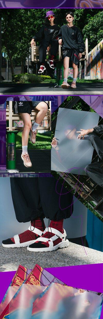 nozzle quiz 是以機能性、街頭感為品牌精神的台灣潮流襪子品牌,以潮流概念建構品牌形象的完整Lookbook。本次以台北西門萬年出發,透過街拍型式圍繞著從現在看見過往的核心概念。
