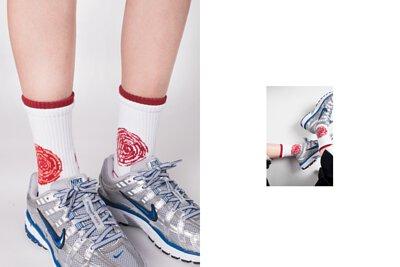 """台灣街頭機能襪履品牌nozzle quiz """"SPEED"""" 延續街頭個性,iGO螢光橘與螢光粉色彩更是本系列亮點 以「速度」為主題創作。影像及聲音因速度的快慢而產生的變化,以此為基礎轉化成圖像的變化。在襪口部分更採用雙層羅紋的設計讓層次更加豐富。"""