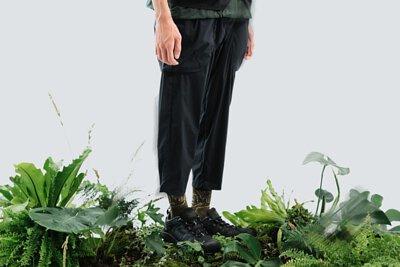 nozzle quiz x HANCHOR 合作系列美麗諾羊毛登山襪《Forest trail》,綠色款 - 谷綠