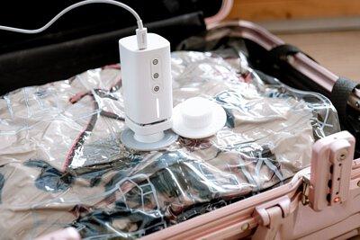 收納, 旅行, 壓縮機, 收納機, 真空袋, 衣物收納, 行李箱, 大空間, 抽氣, 打氣, pacum