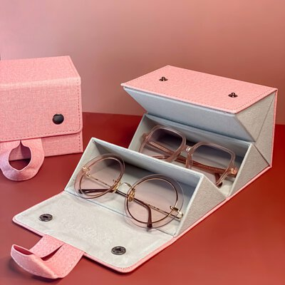glasses and sunglasses cases