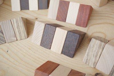 堆堆積木無噴漆 全原木製作