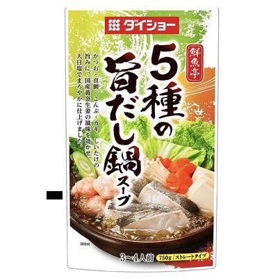 日本 Daisho 鮮魚亭 5種高湯火鍋湯包(3~4人前) 750g