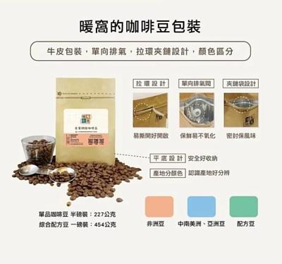 暖窩咖啡豆包裝,牛皮包裝,單向氣閥,拉環夾鏈設計,顏色區分產區