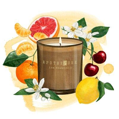 柑橘果香調 香氛蠟燭