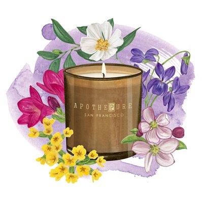花香調 香氛蠟燭