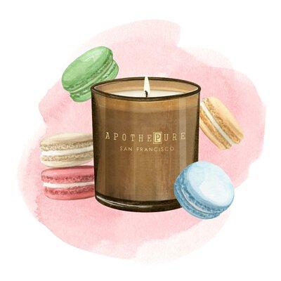 甜點香調 香氛蠟燭