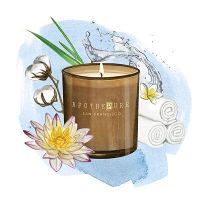 清新純淨 香氛蠟燭