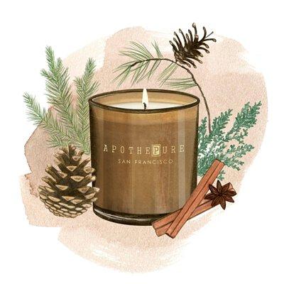 木質辛香調 香氛蠟燭