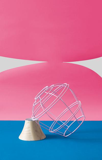 柒木粉紅色設計花器