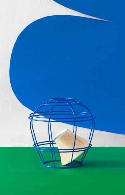 柒木設計藍色上下花器