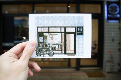 購買咖啡豆或是濾掛式咖啡隨包裹附贈明信片