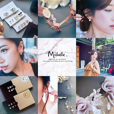 米雪兒 Fashion Beauty Diary 部落客米雪兒實戴分享多款 Mrs.Yue & Miss.Yue 無痛夾式耳環