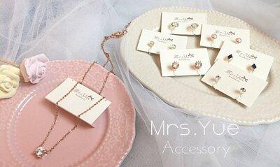 原來是美花 部落客 美花 實戴分享的多款 Mrs.Yue & Miss.Yue 無痛夾式耳環