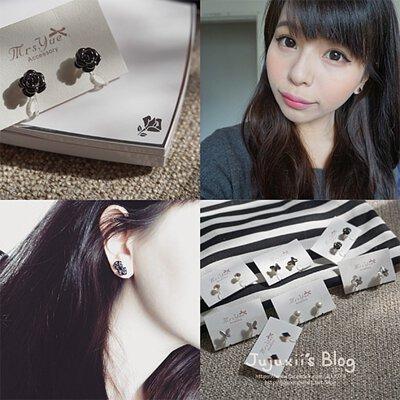 Jujuxii's Blog  的部落客 Jujuxii 實戴分享 7款 Mrs.Yue & Miss.Yue 無痛夾式耳環