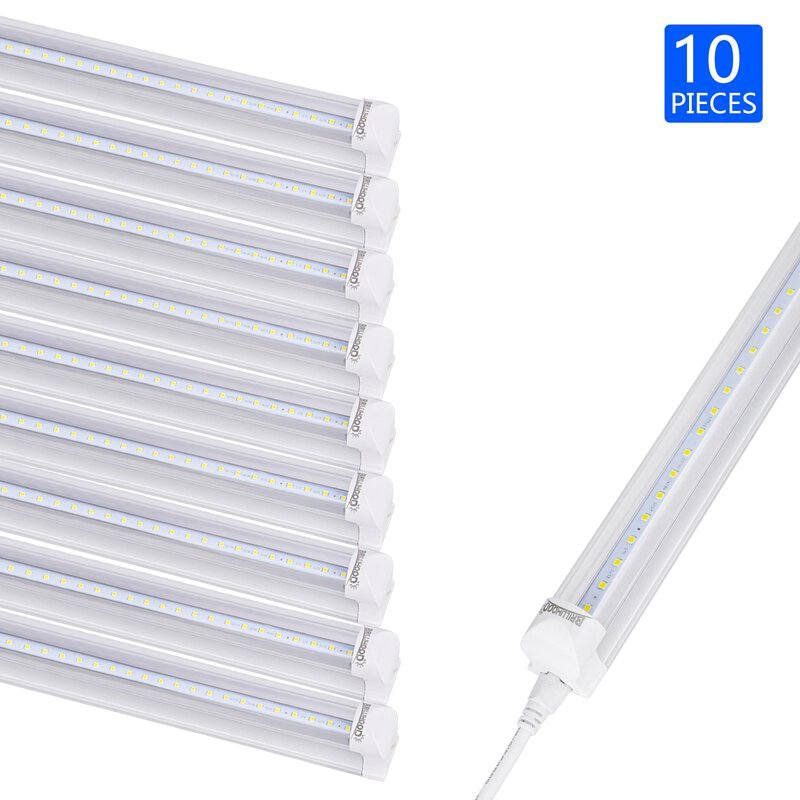 LED 4FT 20W Integrated T8 Light Tube Bulb 6000K Pure Wh