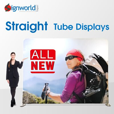 straight tube banner stand