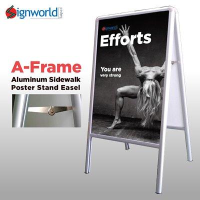 A-Frame Aluminum Marker Board