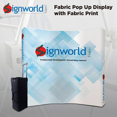 camber fabric pop up display