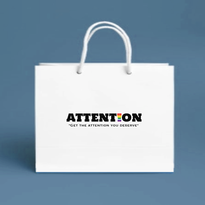 AttentionWear包裝紙袋、白色紙袋、ATTN包裝白紙袋、彩虹包裝紙袋