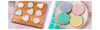 婚禮小物推薦夢幻馬卡龍色系心型圓形手工翻糖餅乾