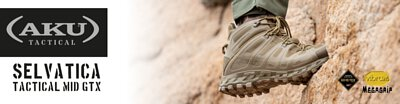 aku, aku tactical, boots, outdoor, gore, vibram, megagrip, selvatica, waterproof