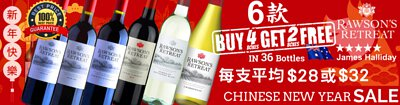 (Buy 4 Boxes get 2 Boxes Free) Australian Brand Penfolds Rawson's Retreat Red & White Wine (Local Supermarket Varieties)