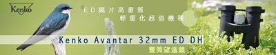 Kenko Avantar 8x32 ED DH 雙筒望遠鏡,賞鳥望遠鏡
