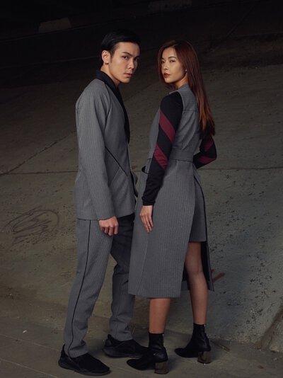 《2019情人節》 LARMURE同色系情侶穿搭提案,讓你放閃也可以很時尚!#灰色系情侶穿搭