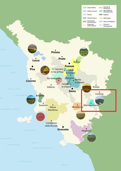 Nobile vino nobile di montepulciano, 貴族蒙特布查諾