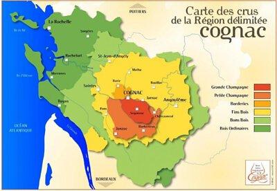 Cognac Region Map
