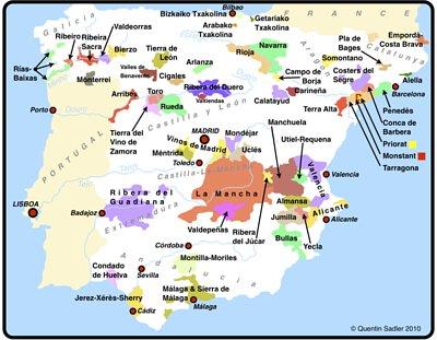 spain wine region map, Mentrida