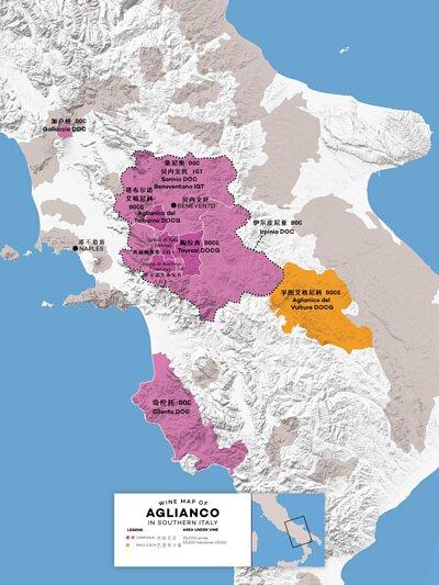 Aglianico Map