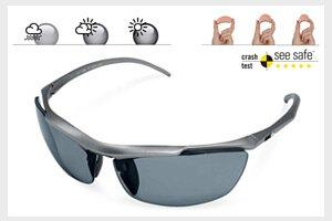 偏光鏡片能夠將對人眼有害的紫外光線完全阻隔 ,在強光下活動時眼睛不易疲倦,提供清晰立體的視線,提供對眼睛真正保護功能。鏡片可隨紫外線強弱改變深淺。