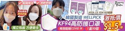 WELLPICK KF94 四層防護立體口罩
