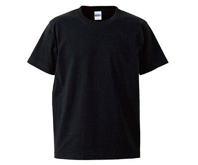 UnitedAthle 3425201 - 7.1oz 黑色純棉重磅中性圓領短T