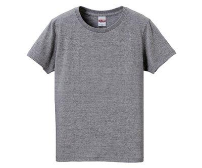 UnitedAthle 3500103 - 5.6oz 麻灰色純棉無接縫女版圓領短T(正)