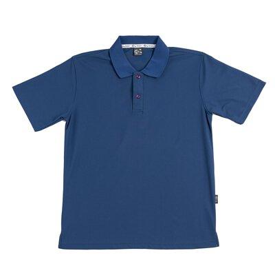 MIT 106 - 暗墨藍色涼感紗吸濕排汗運動短袖POLO衫(正)